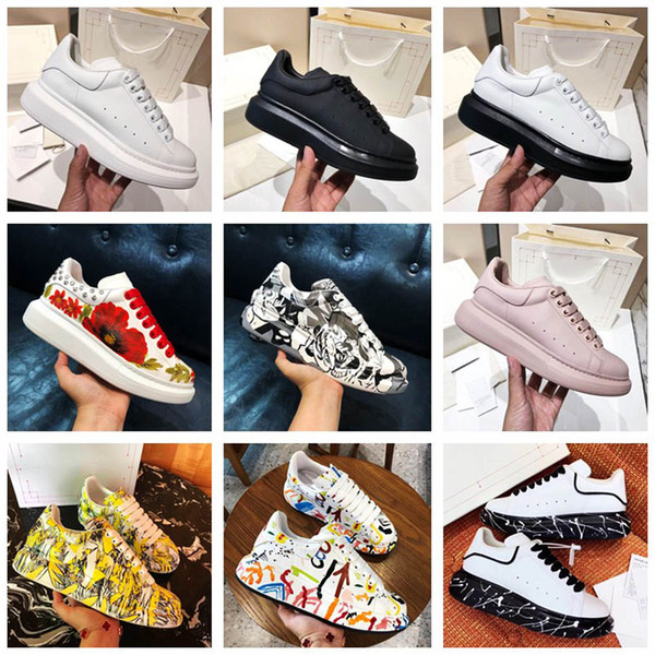 Compre 2020 La Mejor Calidad Pintada Para Hombre Zapatos Del Diseñador De Gran Tamaño De Lujo De Las Mujeres Calza Las Zapatillas De Deporte Famosas