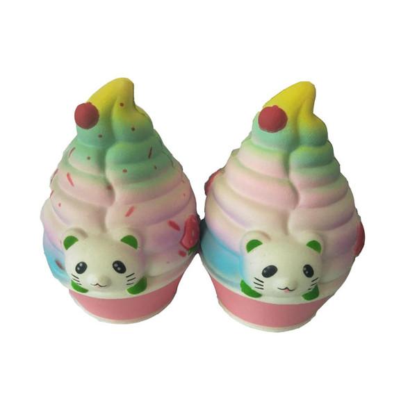 Sıkmak jumbo 12.5 * 9 cm kedi dondurma nadir squishy PU oyuncak yavaş yükselen squishy gıda çocuklar hediye toptan ücretsiz kargo