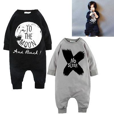 2016 Toddler Baby Girls Boys Romper Bodysuit Outfits Set Pajamas 0 6 12 18 24 Months Newborn Baby Boy Girl Clothes Y18120801