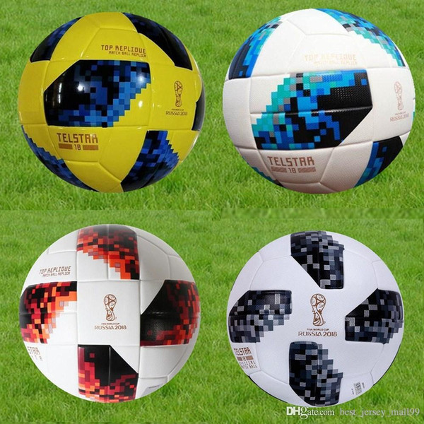 best selling 2018 red knock-out stage match New RUSSIA Premier PU football Ball World soccer Ball PU Champion outdoor Sport Training Calcio Cup Futebal.