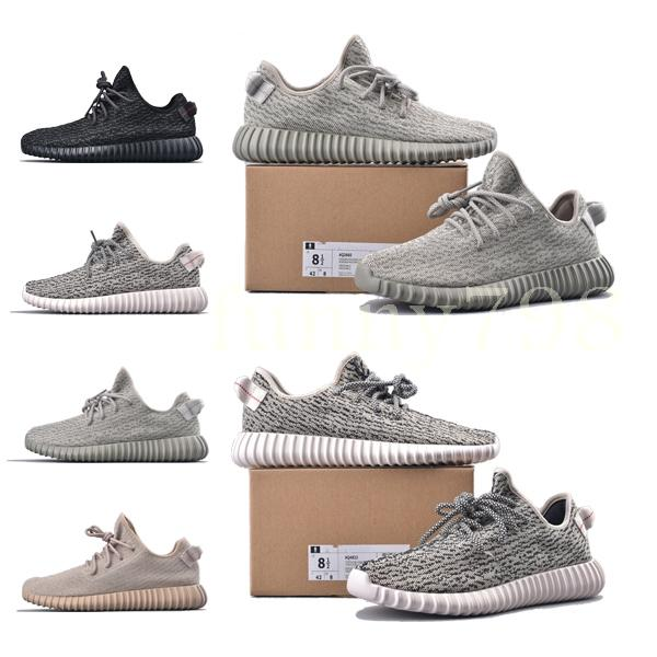 2019 new fashion luxury designer women shoes mens v1 Kanye West pirate black Turtle Dove Moonrock Oxford Tan Wave Runner running sneakes