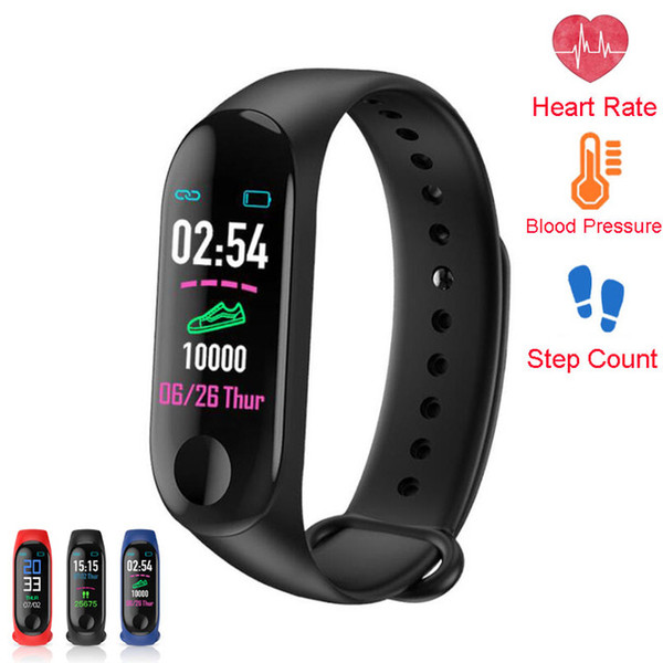 M3 xiaomi mi band 3 Smart Bracelet Color HD Bluetooth fitness tracke Heart Rate Blood Pressure Sports Waterproof Band for Android XCTM3
