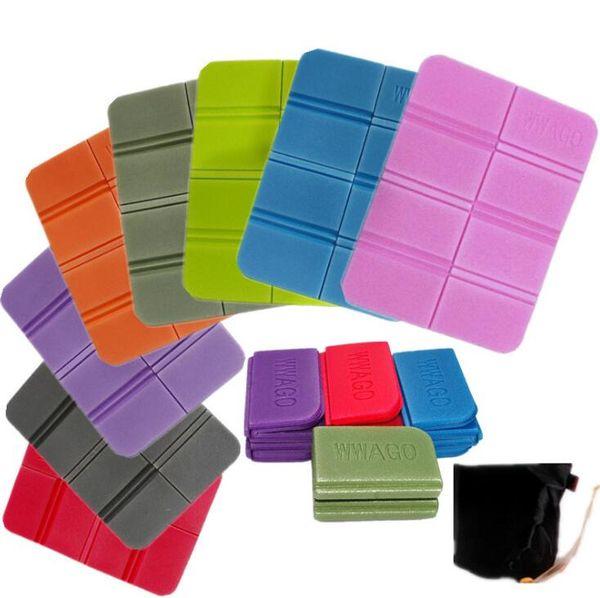100 Pcs Folding Kneeler Portable Small Cushion Waterproof XPE 8 Folder Camping Mat Picnic Pad Sleeping EVA Foam Seat Chair
