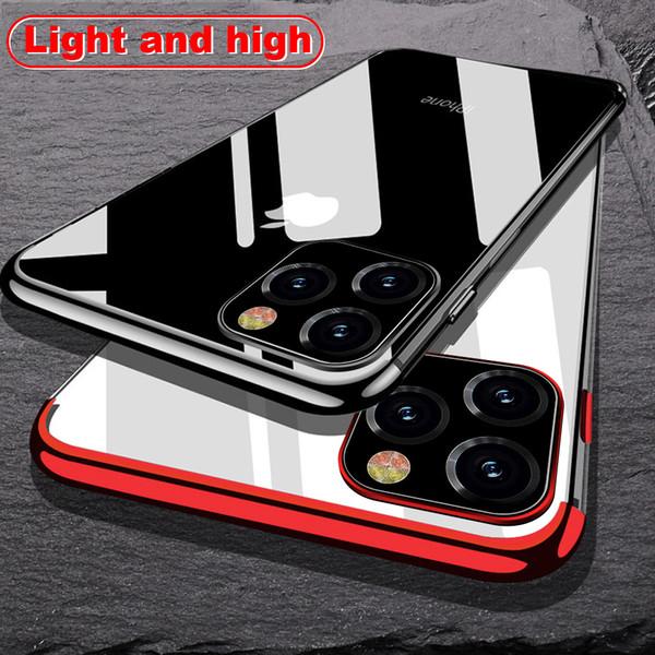 iPhone için 11 6.1inch Vaka Lazer Kaplama Lüks TPU Yumuşak Temizle Kapak iPhone 11 Pro Max 2019 Işık Kristal Telefon Kılıfları Fundas