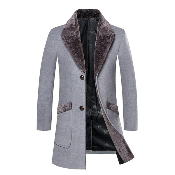 2018 New Arrival Winter High Quality Casual Trench Men Coat Jacket / Business Wool Thick Warm Men's Woolen Coat Large Size S-5XL