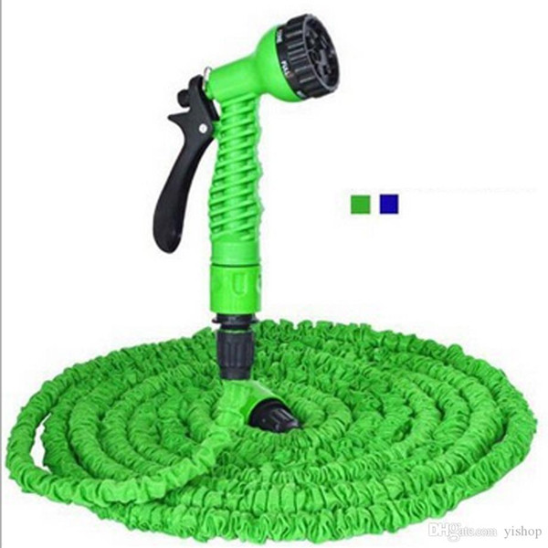 Hot 3x Expandable Magic Garden Hose 125FT Water Pipe Drip Irrigation Supplies Water Hose Car Watering Connector with 7 Modes Spray Gun
