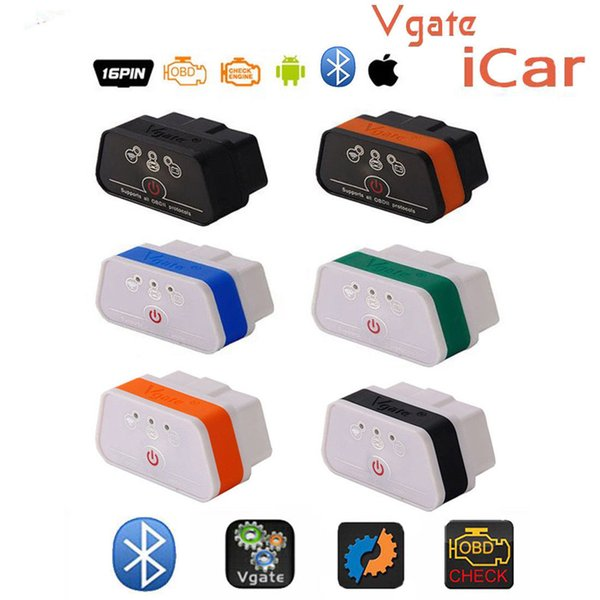 Original ELM327 Bluetooth ICar 2 Self Diagnosis OBDII BT Detector Vgate Icar2 OBD Elm327 Bluetooth OBD2 Professional Solution DHL Free