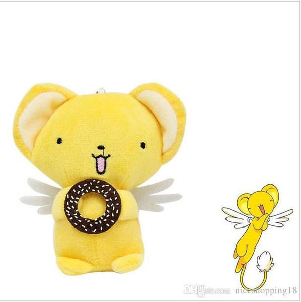 """Top New 4"""" 10CM Cardcaptor Sakura Plush Doll Anime Kero Eat Biscuits Soft Collectible Dolls Pendants Gifts Stuffed Toys"""