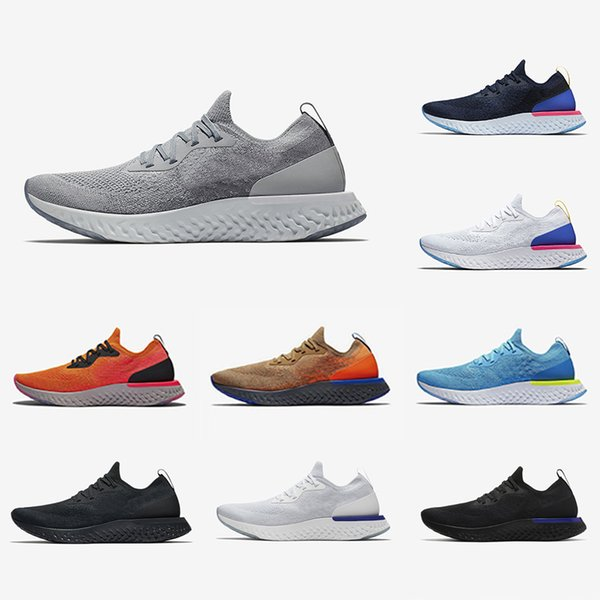Nike Epic React Yüksek Kaliteli uçuş Epic S0UTH React erkek koşu ayakkabı kolej donanma Belçika Çerezler Ve Krem örme tasarımcı spor ayakkabı 36-45