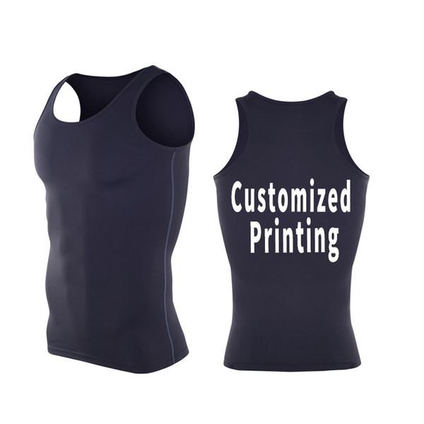 Undershirts Bodybuilding Tank Top Fitness Clothes For Men Custom Design Bodybuilding Gym Vest XXXL Free Shipping