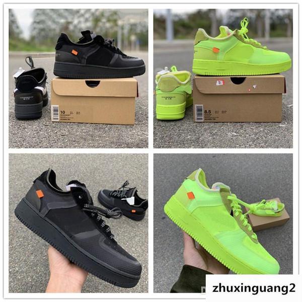 Mais novo Volt Forçado Baixo Execução Verde Malha Preta Superior Das Mulheres Dos Homens de Moda Líder Top Designer de Esporte Sapatos Casuais
