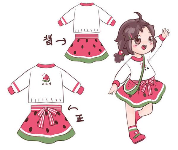 Sweet Fashion Strickwaren Mädchen Anzüge Mädchen Designer Outfits Kinder Designer Kleidung Mädchen Pullover + Röcke 2pcs Prinzessin Kinder Kleidung A7982