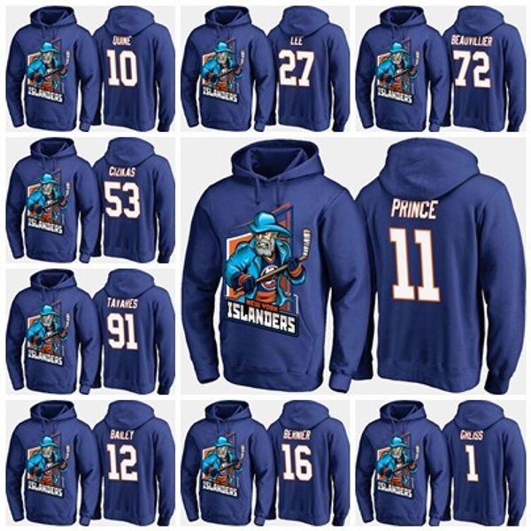 finest selection 41530 bea71 2019 Custom Cartoon Hoodies Jersey 13 Mathew Barzal New York Islanders  Scott Mayfield Leo Komarov Robin Lehner Josh Bailey Anders Lee