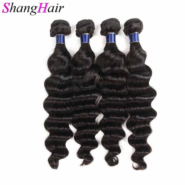 Peruvian Loose Deep Bundles Deal Can Buy 5/6 Bundles 100% Brazilian Remy Human Hair Extensions Peruvian Hair Bundles Natural Black 50g/pcs
