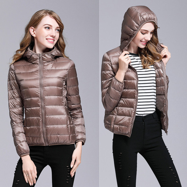 top popular Hot Sale women winter coats Down Casual Jacket Spring Hooded Thin and light Jackets Warm designer Parkas Outwear women clothes Size S-3XL 2019