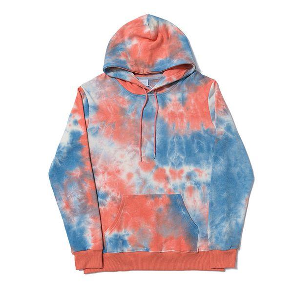 19FW Designer Hommes Marque Sweat-shirt Tie-teints hoodies Poche avant manches longues cordonnet Pull Stitches Lettre Hiphop rue B101086L