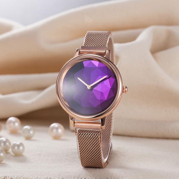 Top di diamanti di marca delle signore della vigilanza dell'acciaio inossidabile minimalista stelle moda casual orologi delle donne di vita orologi impermeabili di alta qualità