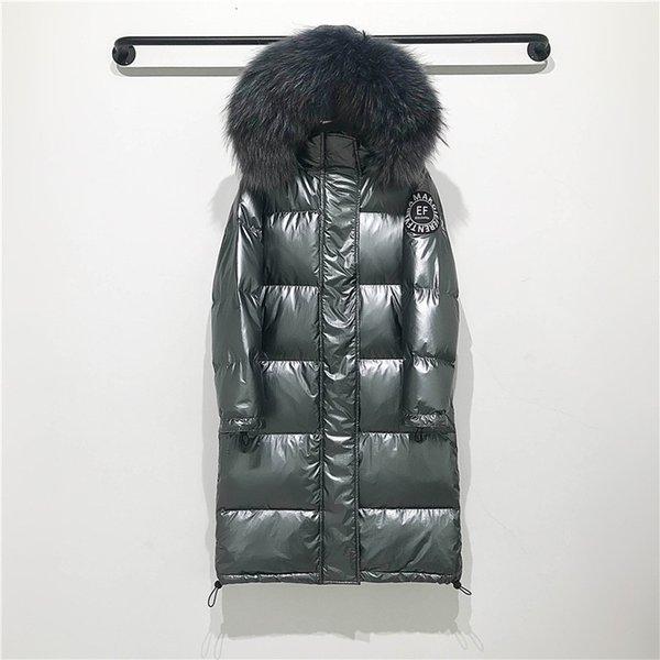 серое пальто серый мех