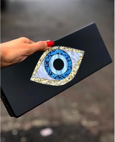 Sólido remiendo Negro brillo acrílico Mal de ojo de plástico PVC caja Embragues Playa Verano Viajes noche bolsos de las mujeres de acrílico Bolsas Y200103