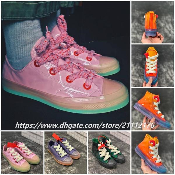 С коробкой высокого качества 2019 Мода JW Anderson Chuck 70 игрушек лакированные ботинки мужские и женские кроссовки Скейтборд обувь 35-44