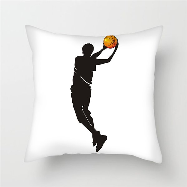 Fuwatacchi Home Decorative Pillowcases Play Basketball Cushion Cover Sports Pillow Cover for Sofa Chair Soft Throw Pillow