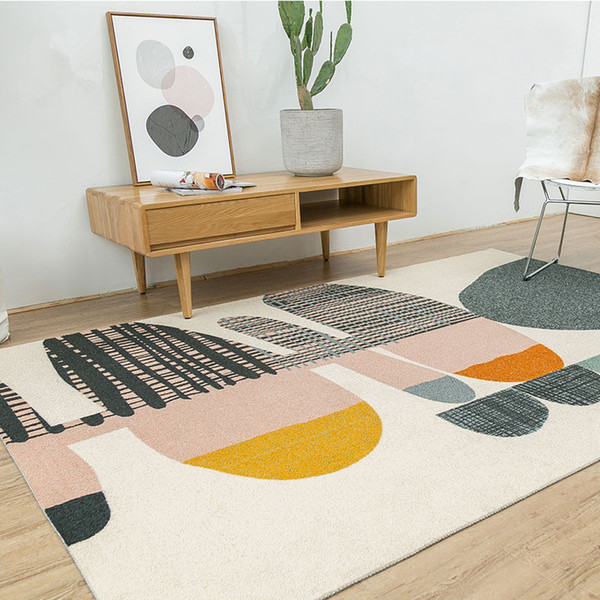 Nordic Denmark Carpet Creative Bedroom Carpet Home Decor Sofa Coffee Table Rug Study Floor Mat Geometric Design Bedside Rugs