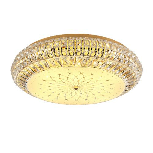 Modern crystal chandelier lamps flush mounted ceiling lights round led chandeliers lightings for hotel living room bedroom dinning room