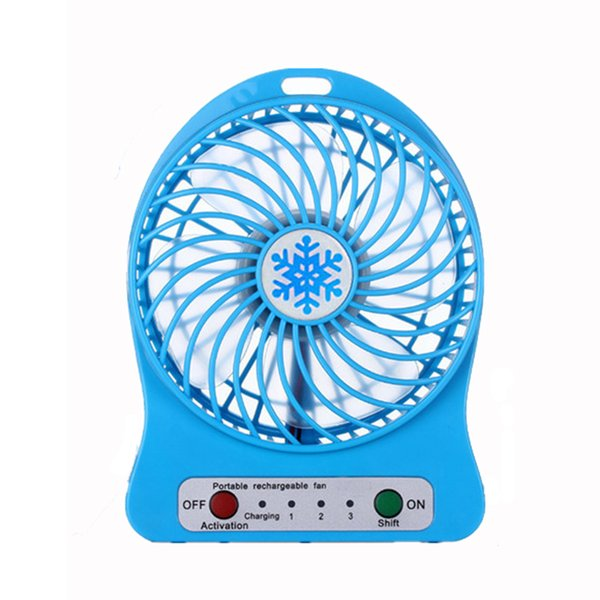 New LED Light Portable Rechargeable Fan Air Cooler Mini Desk USB 18650 Battery Fan For PC Computer