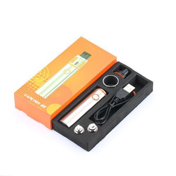 Venta caliente Vape Pen 22 e kit de cigarrillos con 1650 mah vape pluma 22 batería 0.3ohm doble bobina envío gratis DHL gratuito