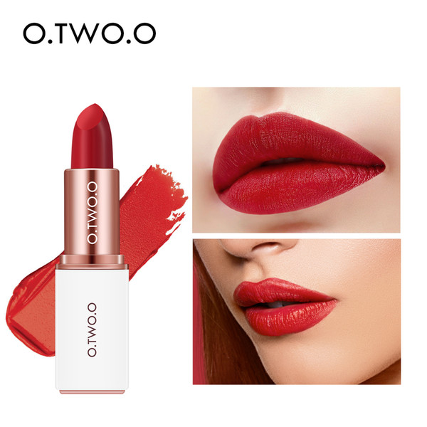 O.TWO.O Lip makeup lipstick velvet matte matte texture no makeup lip gloss 12 color Long-lasting waterproof and moisturizing