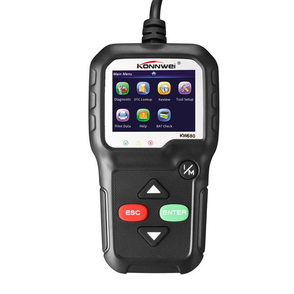 ODB2 KW680 Car Diagnostic Tool OBD2 Automotive Scanner Better AD410 Engine Fault Code Reader Scan Obd 2 Autoscanner