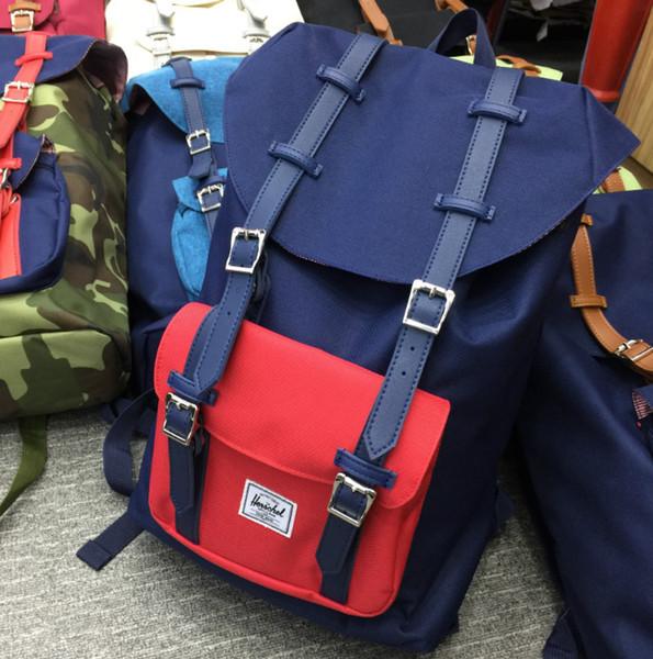 Designer-2019 Venta barata Fuente de fábrica Mochila exterior Moda H Marca Mochila 18 colores Hight Quality School Bag 14.5L / 25L