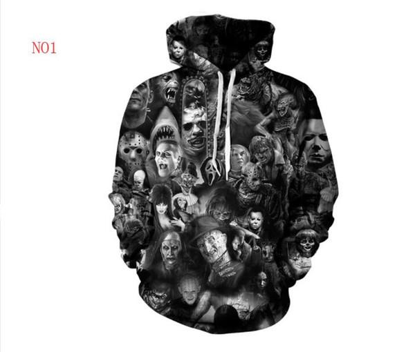 3D Designer Hoodies For Men Sweatshirts Autumn Skulls Pattern Lovers Mens Coat Hooded Ogreish Hoodie Tops Clothing S-5XL