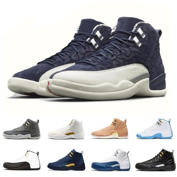 2018 Graduation Pack International Flight 12 XII 12s mens basketball shoes Michigan CLASS OF 2003 TAXI men trainers Athletic sports sneakers