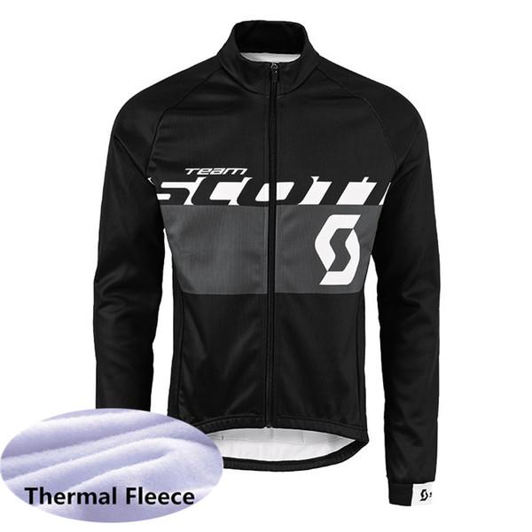 SCOTT uomo inverno Ciclismo invernale in pile termica jersey traspirante popolare vestibilità slim Mantenere caldo personalizzabile 61003X