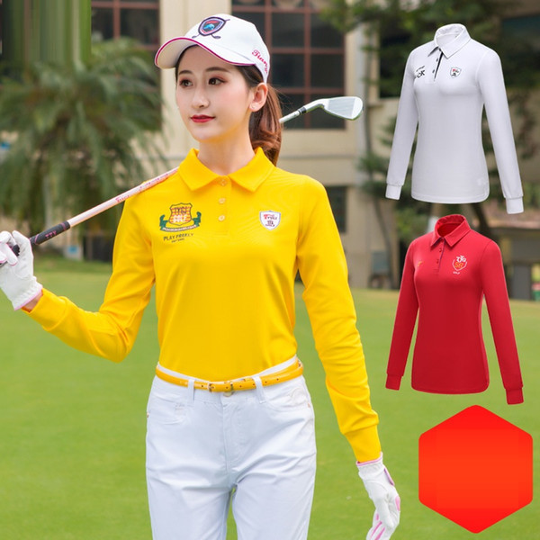2019 Womens Fitness Slimming Golf Shirts Ladies Long Sleeve Breathable Golf Sportswear Fit Comfort Apparel D0701