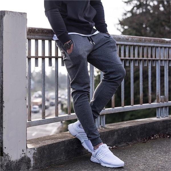 2019 Hommes Full Brand Sportswear Pants Casual Coton Élastique Mens Fitness Pantalon De Remise En Forme Pantalons Pantalons De Jogging Pantalon Joggers