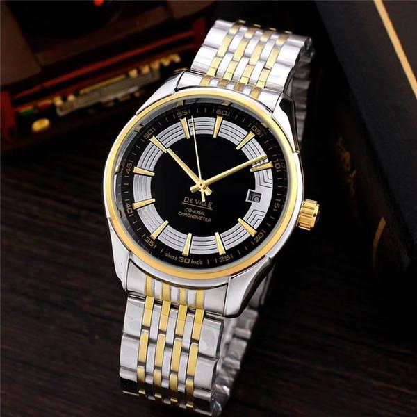 La marca más vendida SEA MASTER Reloj de moda para hombre con tres anillos y dial. Banda de acero dorada hecha en Suiza. Reloj de pulsera mecánico. Relogio di lusso shock.