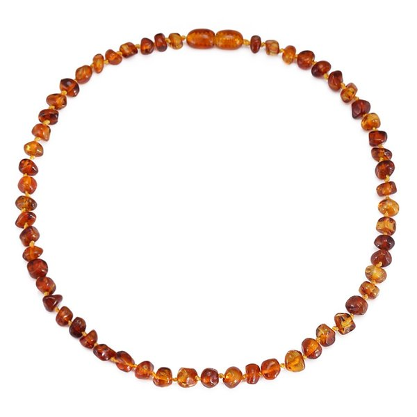 Baltic Amber Teething Necklace/Bracelet for Baby - Simple Package - 3 Sizes - 10 Colors Lab Tested