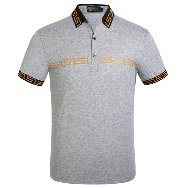 Male Business Polos Brand Luxury Ver New FF Designer Polo Shirts Turn Down Collar Summer Tops