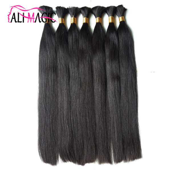 Cheap 2019 New Human Hair For Braiding Bulk Hair Factory Unprocesseds Hair 20''22'24inch Wholesale Ali Magic Production Factory Direct Sales