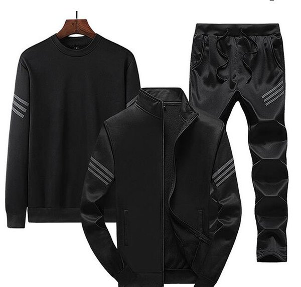 top popular New fall 2019 sportswear casual hooded training running men's sportswear two piece set free delivery 2020