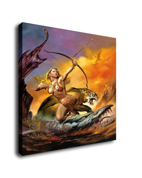 Boris Vallejo Fantasy Art Oil Painting Print On Canvas Home Decor Female Warrior