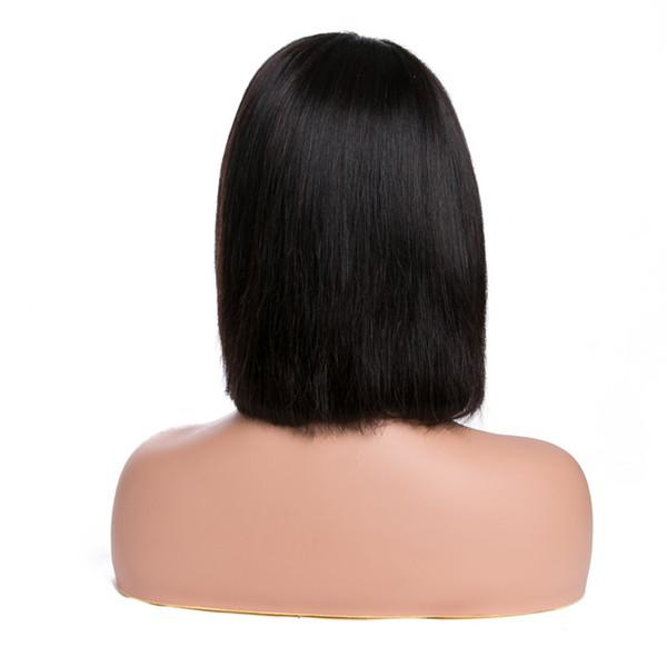Perruque 13 * 4 de lacet avant de lacet de cheveux humains avant de lacet de cheveux brésiliens de Bob perruque pour les femmes noires pré plumés