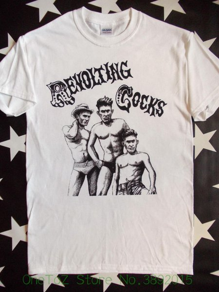 Cool Slim Fit Letter Printed Revolting Cocks Revco White Screen Printed T-shirt Ministry Front 242 Size S - 2xl