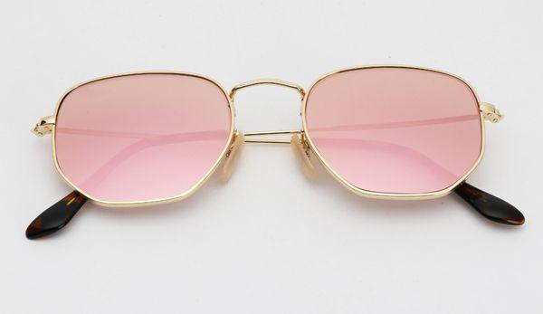 Lente espejo 001 / Z2 dorado / rosa