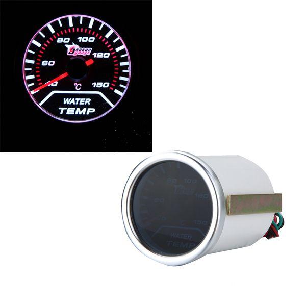 "Freeshipping New Standard 2"" 52mm White LED Display Water Temp Gauge Car Autometer Water Temperature Meter Sensor"