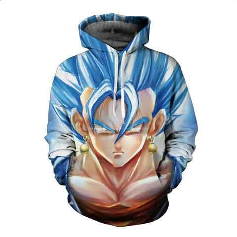 Z Hoodie 3D Printed Pullovers Sweatshirts Son Goku God Black Zamasu Vegeta Trunks Hoodies Coat Outfit