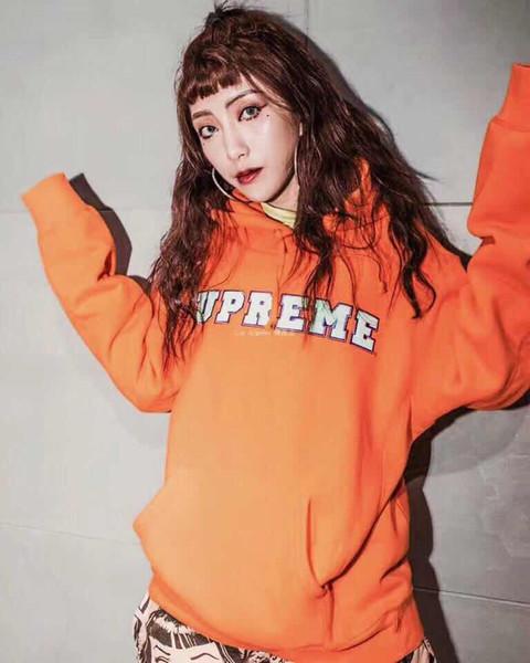 2020 Новых женщины Плюшевого Hoodie Stree Sttle Женщины Свитер способ высокого качество Пуловер Потливость Среднего размер B104817W