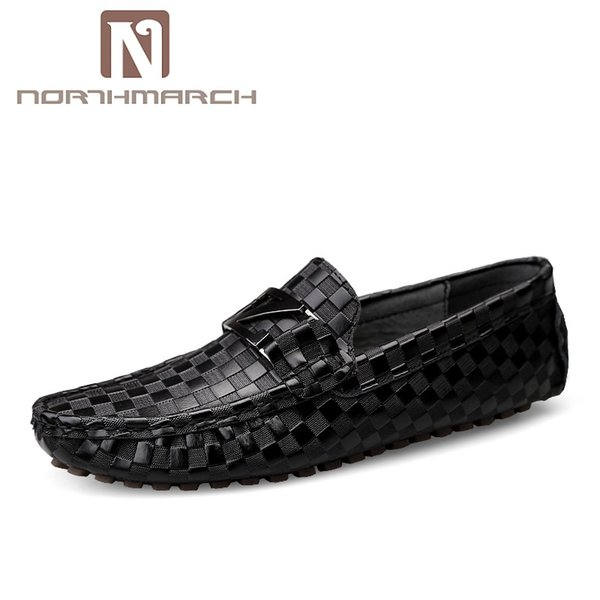 NORTHMARCH 2019 Men Shoes Genuine Leather Loafers Casual Flats Shoes For Men Business Wedding Mocassim Masculino Couro